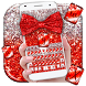 Red Glitter Bow Theme by Super Cool Keyboard Theme