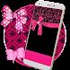 Pink Glitter Bow Live Wallpaper