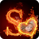 Fire Text Photo Frames by iKrish Labs