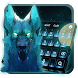 Blue Ice Wolf keyboard Theme by android themes & Live wallpapers