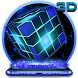 3D Sparkle Neon Cube Theme by stylish android themes