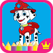 Paw Puppy Patrol Coloring Game by Donna T. Howes