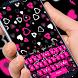 Pink girl love keyboard by cool theme creator