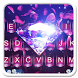 Pink Flower Diamond Keyboard Theme by 7star princess