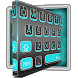 3D Blue Light Black Keyboard by Super Cool Keyboard Theme