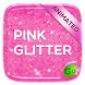 Pink Gold Glitter GO Keyboard Animated Theme by GOMO Dev Team