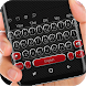 Carbon Fiber Black and Red Keyboard Theme by Mobile Premium Themes