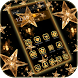 Gold Star Theme Wallpaper Lux Black Gold