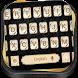 Gold Black Luxury Keyboard by Keyboard Theme Studio