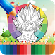 Coloring Book Super Saiyan Game by Coloring Glowing