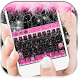 Hot Pink Zebra Keyboard Theme by ChickenAnt Themes
