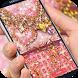 Pink Diamond Gold heart Theme by cool theme creator
