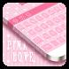 Pink Love Keyboard by Cool Theme Studio
