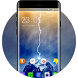Theme for Samsung Galaxy A9: Lightning Wallpaper by DIY Theme Store