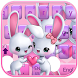 Cute bunny Keyboard Theme rabbit love by NeoStorm We Heart it Studio
