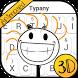3D Animated Stickman Theme&Emoji Keyboard by Fun Emoji Theme Creator