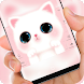 Pink cute Kitty cat Theme by Jubee Theme Studio