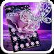 Purple Flower Diamond Butterfly Theme by Beauty Theme Studio