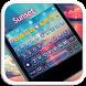 Sunset Emoji Keyboard Theme by Color Emoji Keyboard Studio