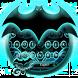 Bat Hero Blue Neon Keyboard by Luxury Keyboard Theme