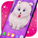 Cute Fluffy Puppy Live Wallpaper by 3D HD Moving Live Wallpapers Magic Touch Clocks