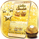 Gold Glitter Chocolate Keyboard by The Best Android Themes