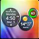 Rings Digital Weather Clock by Factory Widgets