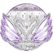 Silver Diamond Swan Keyboard Theme