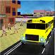 Modern City School Bus Driver by Eventual Studios