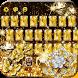 Gold Diamond Glitter Keyboard by Luxury Keyboard Theme