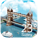 3D Real-time Weather in London by Clock & Weather Theme Dev Team