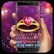 Purple Love Gold Ring Keyboard by Bestheme Keyboard Designer 3D &HD
