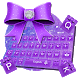 Purple Glitter Bowknot Keyboard Theme by Rainbow Internet Technology