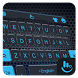 Cool Blue Tech Space Keyboard Theme by Sexy Free Emoji Keyboard Theme