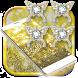 Butterflies Glitter Gold Locker by Theme Wizard