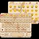 Gold Wood Emoji Keyboard Theme by Color Emoji Keyboard Studio