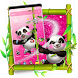 Cute Panda Pink Glitter Theme by Launcher Fantasy