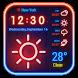 Weather App Neon Theme 2018