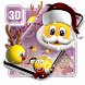 3D Christmus Emoji Theme by 3dthemecoollauncher