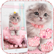 Pink Cute Kitty Cat Theme by Trusty Rabbit Studio