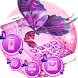 Purple Butterfly Pink Flower Theme by Alice Creative Studio