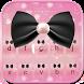 Pink Bow Keyboard Theme by Fantasy Keyboard studio