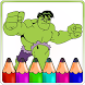 Hero Coloring Book For hulk by Kidso Coloring Games