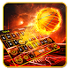 Fire Basket Ball Keyboard Theme by Cool Themes and art work
