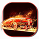 Flame Car Racing Keyboard by live wallpaper collection