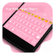 Fun Pink Hearts-Video Keyboard by Kitty Emoji Keyboard Design