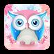 Cute Pink Owl Keyboard by Echo Keyboard Theme