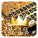 Gold & Silver Keyboard by Cool Theme Studio