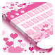 Pink Sweet Love Keyboard by Cool Theme Studio