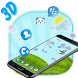 Blue Cat 3D Mobile Theme by 3D Themes World